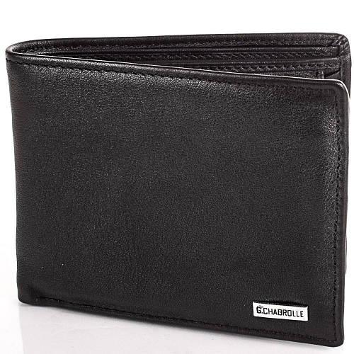 Аккуратное мужское портмоне из натуральной кожи Georges Chabrolle Артикул: FARE91065-2 черный