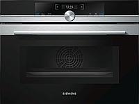 Компактная встраиваемая духовка с микроволновой печью Siemens CM633GBS1