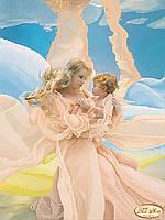 """Рисунок на ткани для вышивания бисером """"Мать и дитя"""""""