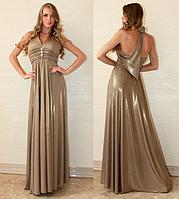 Платье вечернее. Обворожительное платье с золотым напылением.