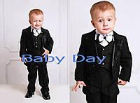 Нарядный костюм для мальчика с фраком черный все размеры!
