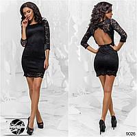 А125 Коктейльное платье с открытой спиной Черный