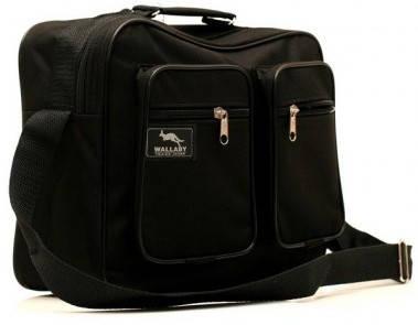 Черная мужская сумка из полиэстера Wallaby 2611