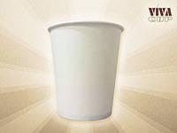 Одноразовые белые стаканчики бумажные 182 мл