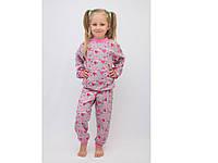 Тёплая пижама для девочки р.80-86