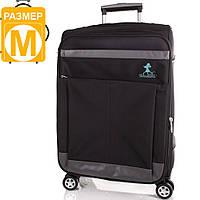 Стильный чемодан среднего размера на 4-х колесах 65,6 л. TIANDISHU Артикул: TU1406-2M  черный