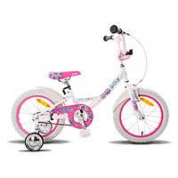 """Велосипед 16"""" PRIDE Kelly бело-розовый глянцевы"""