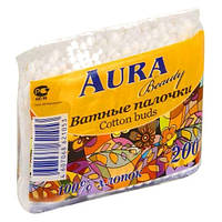 Ватные палочки AURA 200 шт. пакет