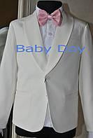 Нарядный костюм смокинг для мальчика с поясом и бабочкой размер 92,98
