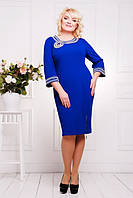 Платье женское  манжеты и горловина украшены ручной вышивкой размеры 50 52 54 56 58