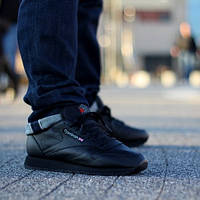 Кроссовки Reebok Classic Leather Black 2267 Оригинал
