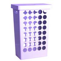 Бельевая прямоугольная корзина 62л фиолетовая
