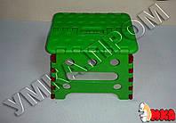 Детский складной пластиковый стульчик Черепашка, h=18см