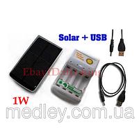 Зарядное устройство для пальчиковых аккумуляторов на солнечной батарее