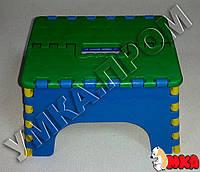 Детский складной пластиковый стульчик Гномик, h=13см