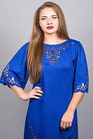Женское красивое платье больших размеров с перфорацией в расцветках