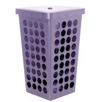 Бельевая корзина угловая 45л 570*340*240мм фиолетовая