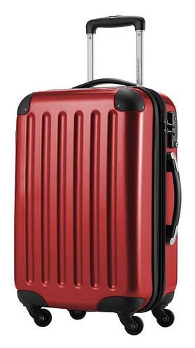 Пластиковый 4-колесный дорожный малый чемодан 45 л. HAUPTSTADTKOFFER alex mini red красный