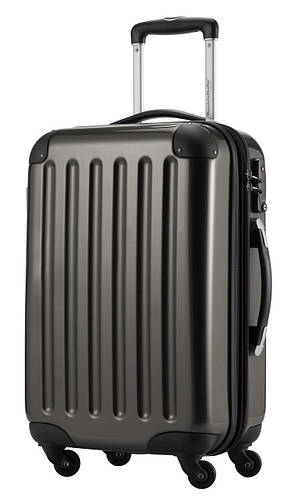 Малый 4-колесный стильный чемодан из поликарбоната 45 л. HAUPTSTADTKOFFER alex mini graphite темно-серый