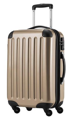 Стильный бронзовый 4-колесный малый чемодан из поликарбоната 45 л. HAUPTSTADTKOFFER alex mini bronze