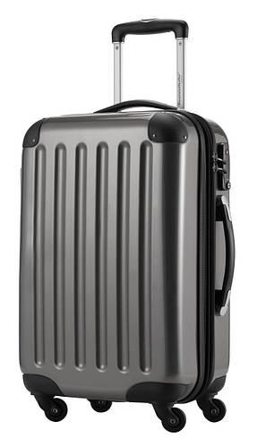 Функциональный малый 4-колесный чемодан из пластика 45 л. HAUPTSTADTKOFFER alex mini titan титановый
