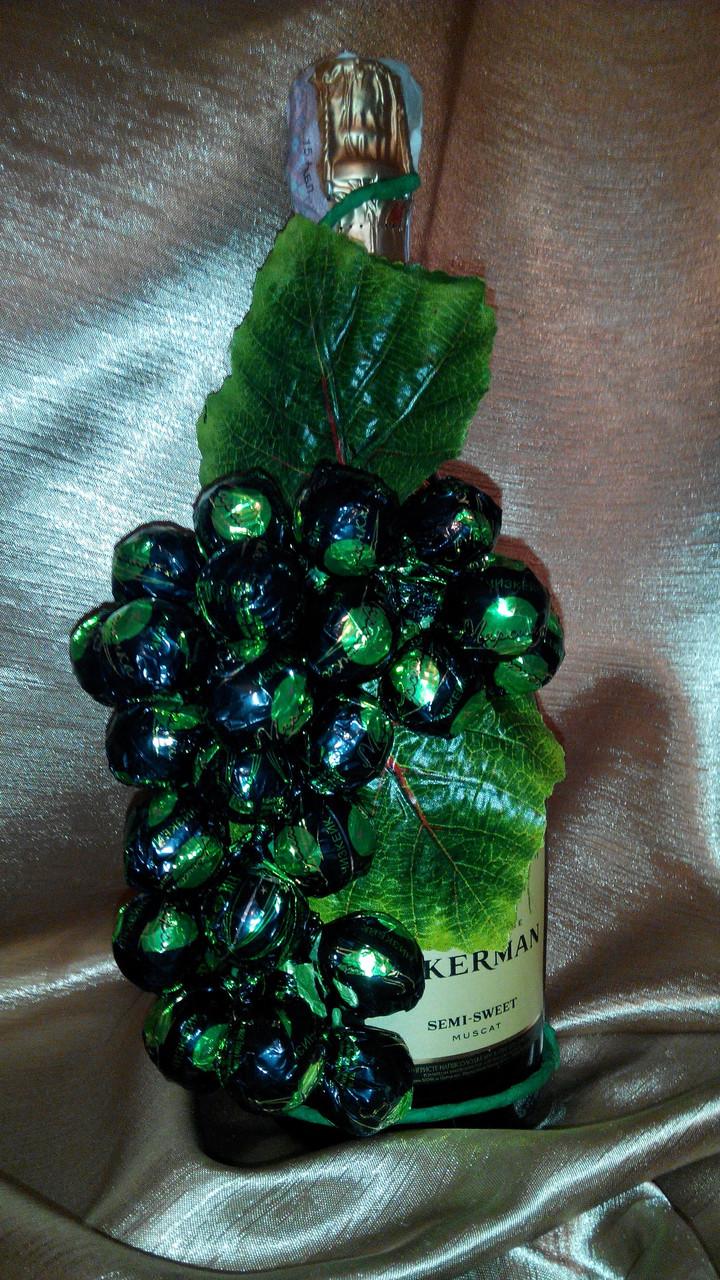 Как сделать из конфет гроздь винограда