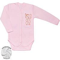 Утепленное детское боди (Розовый, слон)