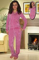 Велюровый костюм (Темно розовый)