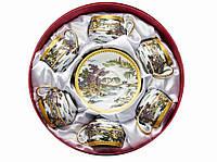 """Сервиз из тонкого фарфор (6SCS95) Yamasen 6 чашек + 6 блюдец """"Пейзаж"""" (110 МЛ)"""