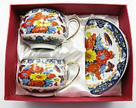 """Сервиз из тонкого фарфор (2BCS1020) Yamasen 2 чашек + 2 блюдец """"Цветы"""" (220 МЛ)"""