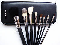 Кисти для макияжа MAC 8 штук + чехол В Подарок кисти кисточки мак 8 шт