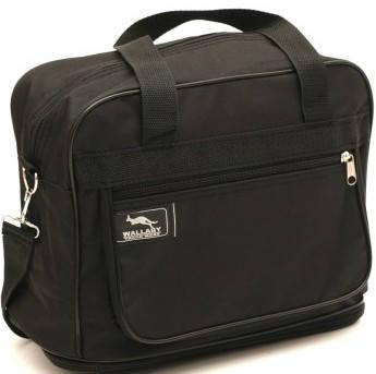 Черная вместительная хозяйственная сумка из полиэстера 14 л. Wallaby 2071