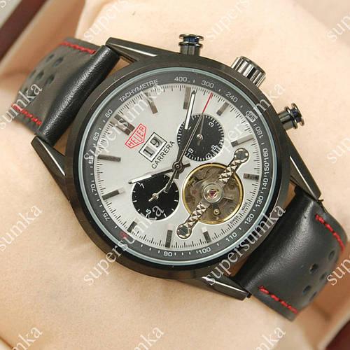 Яркие наручные часы Tag Heuer Carrera Tourbillon Black/White 2105