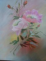 Картина № 4. Розы. Масло. Холст. 35*45 см.