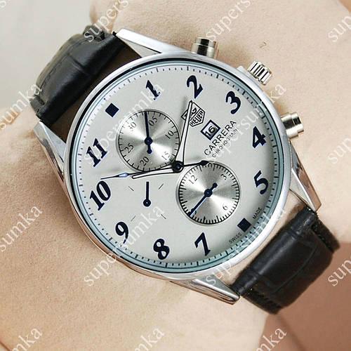 Модные наручные часы Tag Heuer Grand Carrera Black/Silver/White2116