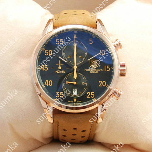 Популярные наручные часы TAG Heuer Carrera 1887 SpaceX Quartz Gold/Black-Yellow 2129