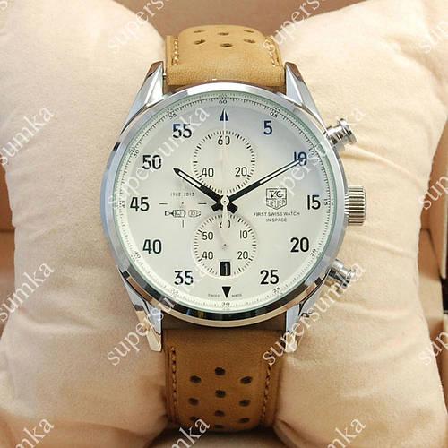 Яркие наручные часы TAG Heuer Carrera 1887 SpaceX Quartz Silver/White 2130