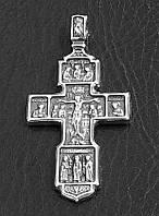Серебряный мужской нательный крест Вхождение разбойника в рай благоразумный