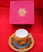 """Сервиз из тонкого фарфор (SCS1007-4) Yamasen 1 чашка + 1 блюдце """"Драконы"""" (110 мл)"""