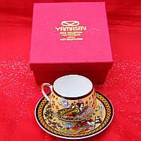 """Сервиз из тонкого фарфор (SCS29-4) Yamasen 1 чашка + 1 блюдце """"Кремовый"""" (110 мл)"""