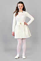 Белоснежное детское платье с гипюром