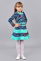 Волшебное детское платье с искусственной тисненой кожи