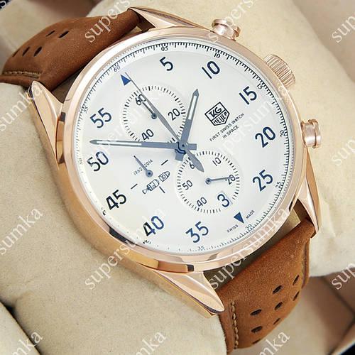 Аналоговые наручные часы TAG Heuer Carrera 1887 SpaceX Quartz Gold/White 2136