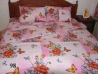 Двуспальное постельное белье бязь GOLD - на розовом цветы