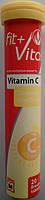 Шипучие таблетки-витамины Fit+Vital Vitamin C