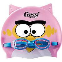 Набор для плавания детский Cressi Sub (очки для бассейна + шапочка), розовый