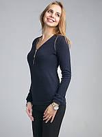 Модная женская кофточка с длинным рукавом из ангоры