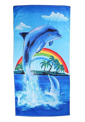"""Пляжное полотенце """"Дельфин"""" (арт. V1061/04), фото 2"""