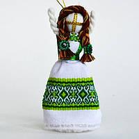 Кукла-мотанка зеленая маленькая