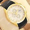 Стильные наручные часы Tissot quartz Chronograph Black/Gold/White 2223